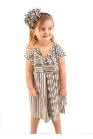 Black and white stripes dress for girls Orimusi | 5032262 | ORI513BIANCO