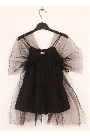 Black short suit with tulle for baby girl Orimusi | 19 | ORI540NERA