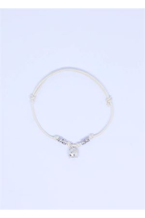 White bracelet with Capri bell charm  Pierino Jewels | 36 | 3020BIANCO