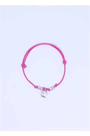 Fuxia bracelet with lucky cari bell charm Pierino Jewels | 36 | 3020FUCSIA2