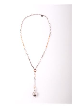 Long Necklace with quatrefoil Capri bell charms Pierino Jewels | 35 | 4002ARGENTO