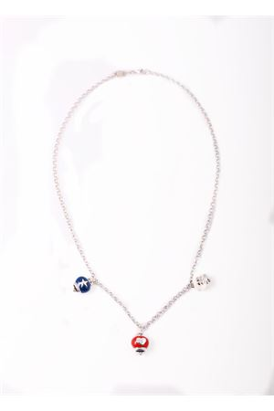 Long Necklace with enemel Capri bells Pierino Jewels | 35 | 4003ARGENTO