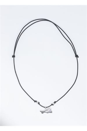 Black necklace with Capri island application  Pierino Jewels | 35 | 4008ARGENTO