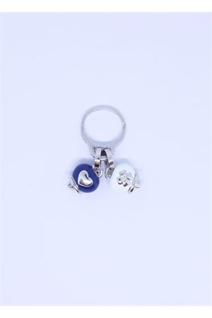 White and blue Capri bell charm ring  Pierino Jewels | 5032250 | ANELLO2CAMPBLU