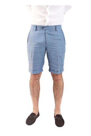 Bermuda da uomo in lino azzurro Scacco Matto | 5 | BERMUDALINOAZZURRO