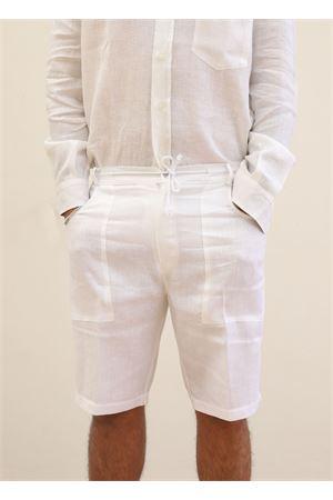 Bermuda da uomo in lino bianco Scacco Matto | 5 | BERMUDALUNGOBIANCO