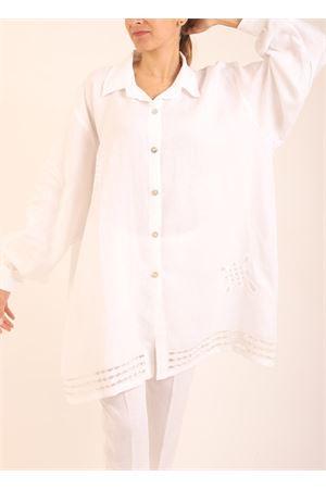 Wide white linen shirt  Scacco Matto | 6 | CAMICIAAMPIABIANCA