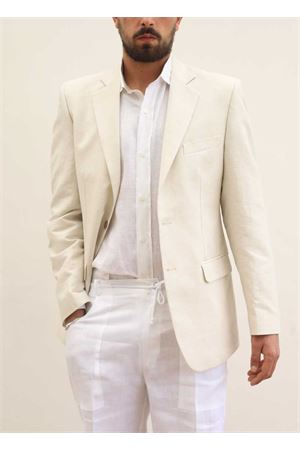 Beige linen jacket for man  Scacco Matto | 3 | GIACCALINO2SABBIA