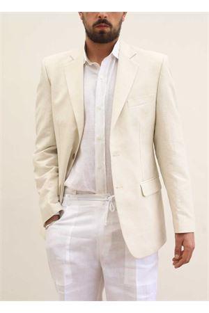 Giacca da uomo in lino beige Scacco Matto | 3 | GIACCALINO2SABBIA