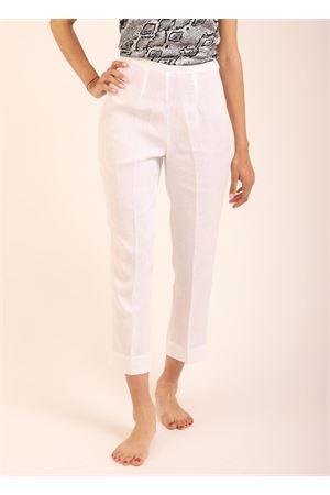 White linen Capri pants  Scacco Matto | 9 | PANTACAPRIBIANCO