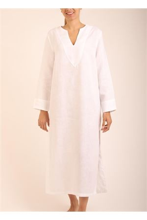 White long linen tunic  Scacco Matto | 5032233 | TUNICALUNGABIANCO