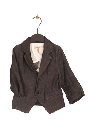 Blazer da bambina in denim blu Three House Anja Schwerbrock | 3 | TH50BBLU