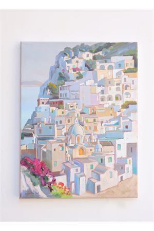 Oil on canvas of Positano view  Antonio Palomba | 20000003 | CAPRIPOSITANO30X40