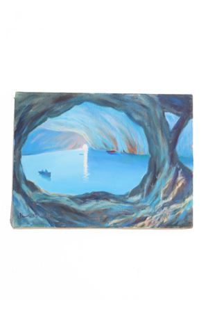 Blue Grotto, oil on canvas  Antonio Palomba | 20000003 | GROTTAAZZURRA30X40