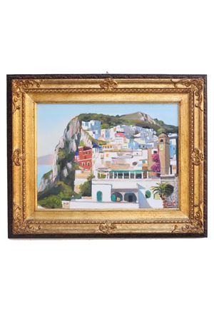 View of Capri , oil on canvas  Antonio Palomba | 20000003 | PIAZZACAPRICE30X40