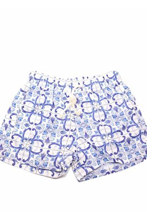 Swimsuit for kids with majolica pattern  Aram Capri | 85 | AR27AZZURRO