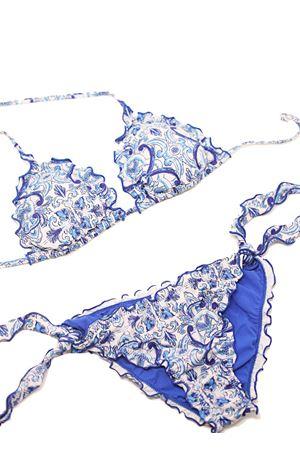 Bikini with blue majolica pattern  Aram Capri | 85 | CATR059BLU