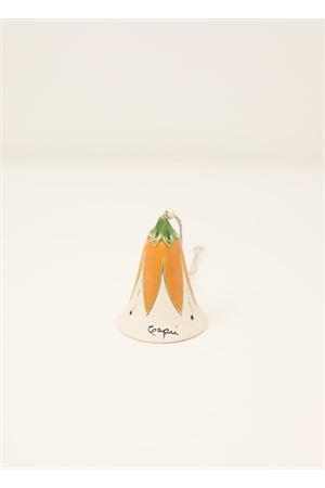 campanella di capri in ceramica con fiore Capri Bell | 20000008 | 20103695ARANCIONE