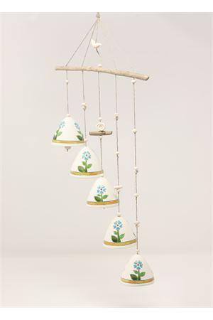 Composizione di campanelle in ceramica con fiori Capri Bell | 20000008 | 20104603FIORI