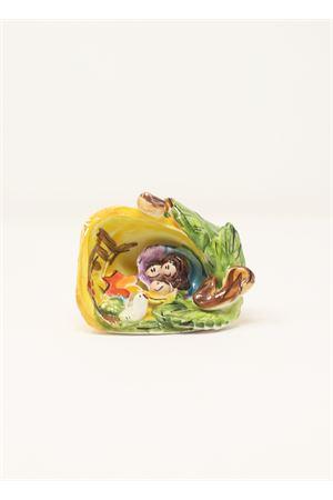 Piccolo presepe in ceramica Capri Bell | 20000025 | 20110741GIALLO
