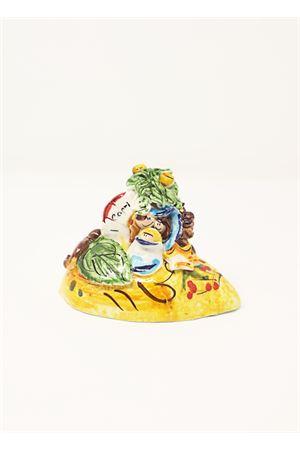 presepe in ceramica con base limone Capri Bell | 20000025 | 20110758LIMONE