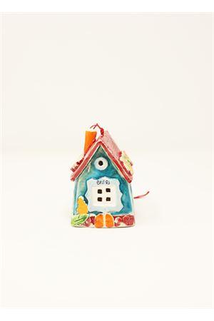campanella portafortuna in ceramica a forma di casetta caprese Capri Bell | 20000008 | 20122133ROSSO