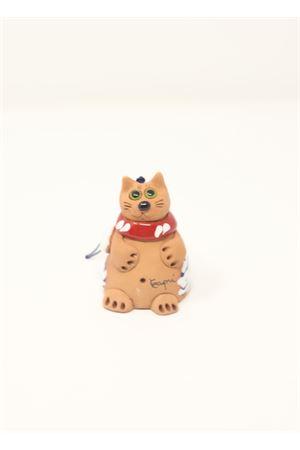 campanella portafortuna in ceramica a forma di gatto Capri Bell | 20000008 | 20124670CATNATALIZIO
