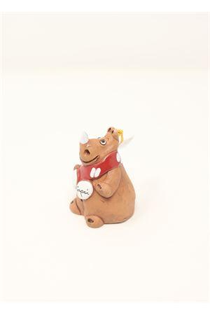 campanella portafortuna in ceramica Rinoceronte Capri Bell | 20000008 | 20124670RINONATALIZIO