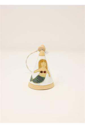 campanella in ceramica con sirena Capri Bell | 20000008 | 20125066BEIGE