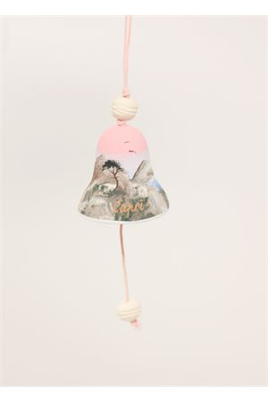 Pink bell with small painting of Faraglioni  Capri Bell | 20000008 | 20125097ROSA