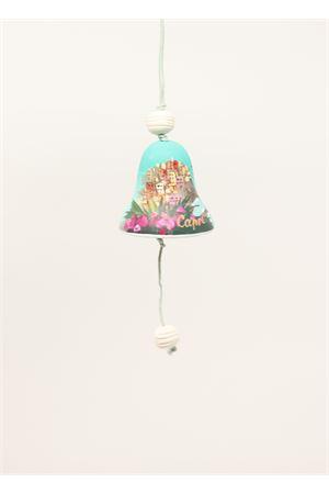 campanella di capri in ceramica con paesaggio dipinto Capri Bell | 20000008 | 20125103VERDE