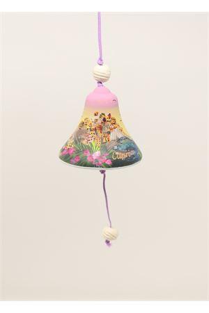 campanella di capri in ceramica con paesaggio dipinto Capri Bell | 20000008 | 20125127ARANCIONE