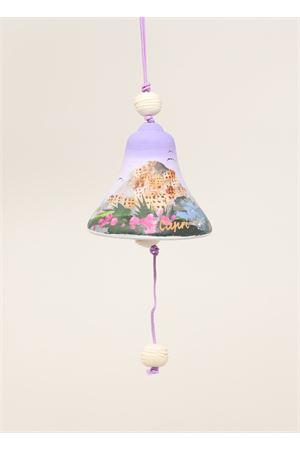 campanella in ceramica con paesaggio dipinto Capri Bell | 20000008 | 20125127VIOLA