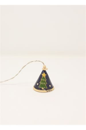 Christmas decoration in ceramic  Capri Bell | 20000008 | 20125431BLU
