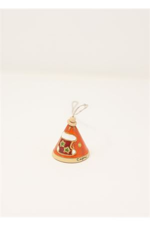 Christmas ceramic bell decoration  Capri Bell | 20000008 | 20125448ARANCIONE