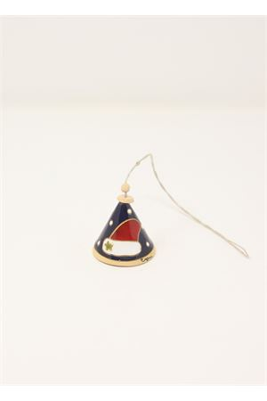 Capri bell in ceramic with christmas hat  Capri Bell | 20000008 | 20125455CAPPELLOBLU