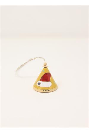 Campanella in ceramica con cappello di babbo natale Capri Bell | 20000008 | 20125455CAPPELLOGIALLO