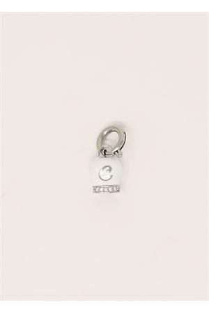 White Capri bell with letter Capri Bell | 20000055 | CAMPANELLADICAPRINIZIALEBIANCO