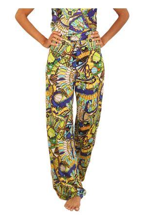 Pantaloni elasticizzati in jersey a fantasia Capri Chic | 9 | PANTAJERSEYFANTAGIALLA