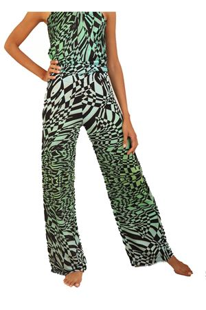 Tailored jersey trousers with green pattern  Capri Chic | 9 | PANTAJERSEYFATASCHACCHI