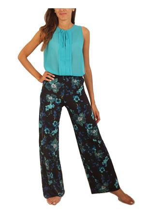 jersey pants with flowers pattern  Capri Chic | 9 | PANTAJERSEYFIORIFONDONERO
