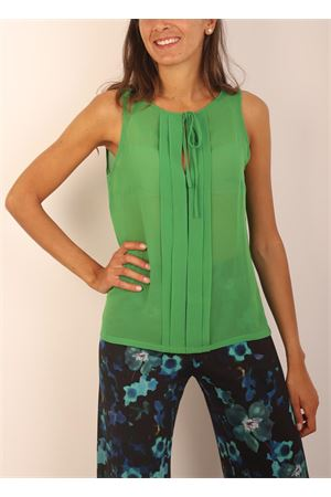 Green silk t-shirt  Capri Chic | 8 | TSHIRTSMANICATAVERDE