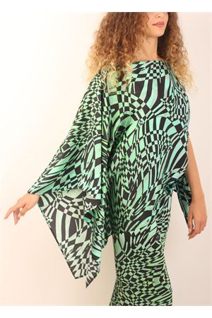 Green pure silk tailored tunic Capri Chic | 5032233 | TUNICASETABICOLOR