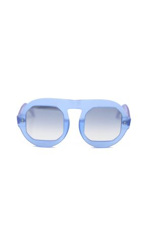 Square frame blue sunglasses  Capri People | 53 | LUPIENAZZURROMATTO