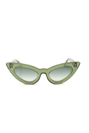 Green cat eye vintage style sunglasses Capri People | 53 | SAMANTAVERDE