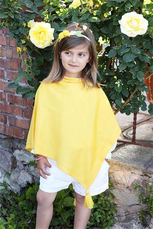 Yellow wool poncho for girls  Capridea | 52 | PONCHORAGAZZAGIALLO