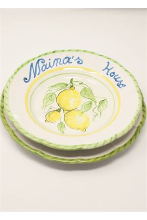 Customizable ceramic plates with lemons Ceramicapri | 5032235 | PIATTILIMONILIMONI