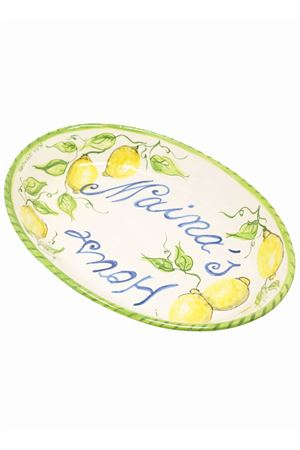 Customizable serving dish with lemons  Ceramicapri | 20000026 | PIATTOPORTATALIMONILIMONI