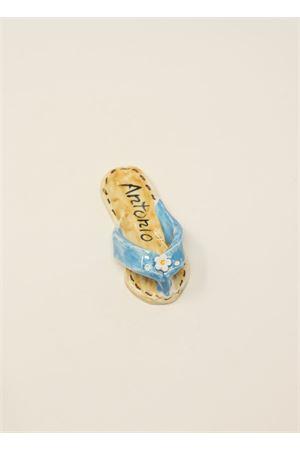 calamita a forma di sandaletto caprese azzurro Ceramicapri | 20000005 | SANDALETTIMAGNETEAZZURRO