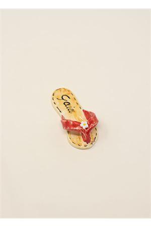 calamita a forma di sandaletto caprese rosso Ceramicapri | 20000005 | SANDALETTIMAGNETEROSSO